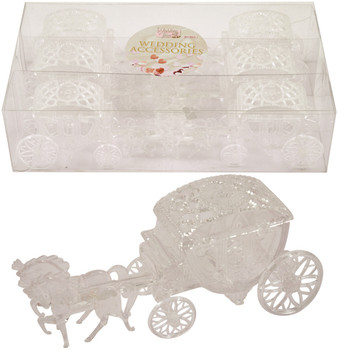 Clear Wedding Carriage 6 Pieces