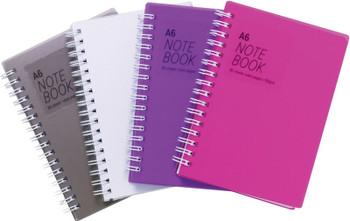 10 x A6 Twinwire Feint Ruled 80 Sheet Notebook
