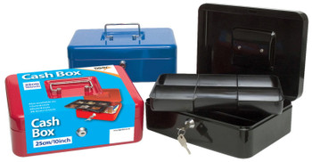 "25cm (10"") Metal Cash Box"