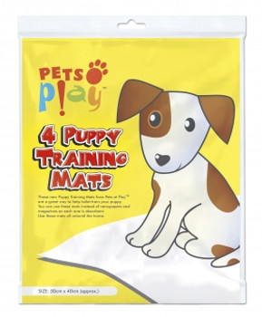 Pack of 4 Puppy Training Mats (50x50xm)