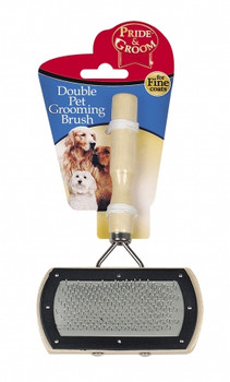 Double Sided Pet Grooming Brush - For Fine Coats