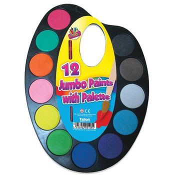 12 Jumbo Paints on Palette