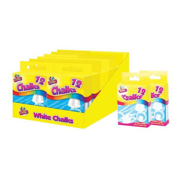12 White Chalks In hanging box