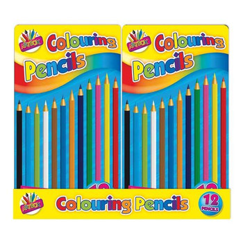12 Full Size Colouring Pencils in Tin Box