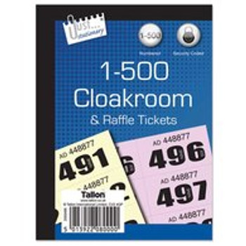 1-500 Cloakroom Tickets