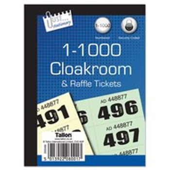 1-1000 Cloakroom Tickets