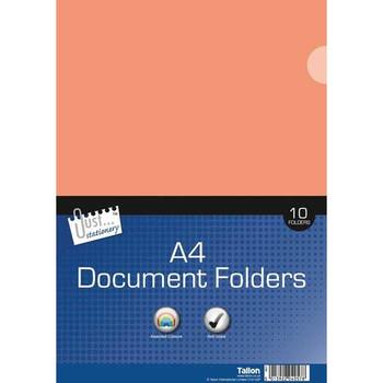 10 Plastic L Folders