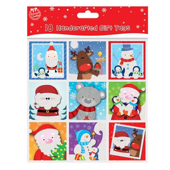 18 Cute Handcafted Christmas Gift Tags