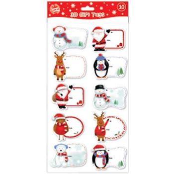 10 3D Handcrafted Christmas Gift Tags