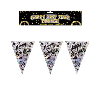 Holographic Happy New Year Bunting