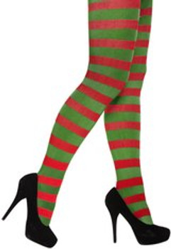 Adult Red & Green Tights