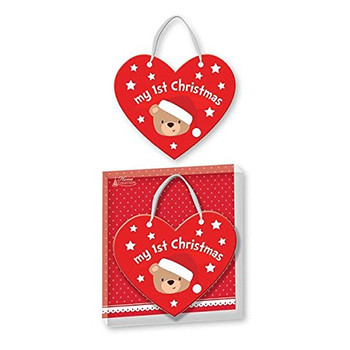 Baby's 1st Christmas Heart Shaped Plaque