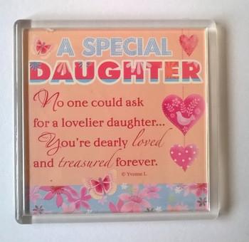 A Special Daughter Sentimental Fridge Magnet