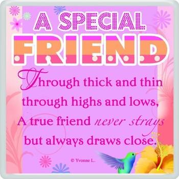 A Special Friend Sentimental Fridge Magnet