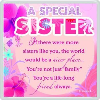 A Special Sister Sentimental Fridge Magnet