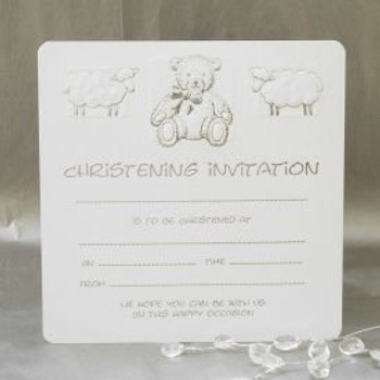 Pack of 10 Christening Invitation Cards with Envelopes