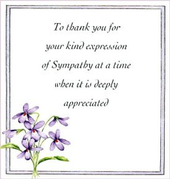 pack of 10 Floral thank you sympathy cards with Envelopes