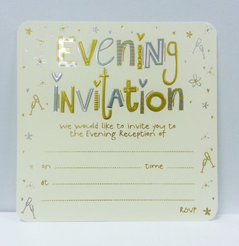 Pack of 10 Luxury Evening Invitation Card Sheets with Envelopes