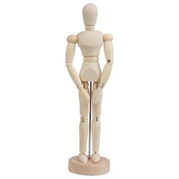 "5.5"" Artists Wooden Manikin - Moveable Adjustable Limbs Human Mannequin"
