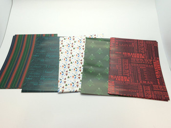 10 Sheet of Mix Designer Soft touch Foiled Christmas Giftwrap