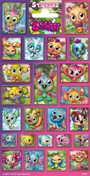 24 Zoobles Stickers