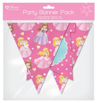 Princess Design Flag Banner Pack - Princess Party
