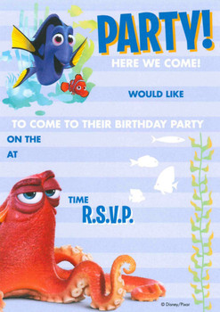 Finding Dory Pack of 20 Party Invitations With Envelopes