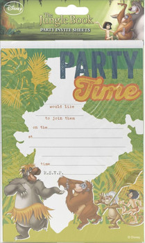 Jungle Book Pack of 20 Party Invites With Envelopes