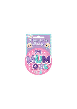 Badge Mummy To Be Pink