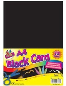 15 SHEETS BLACK ACTIVITY CARD