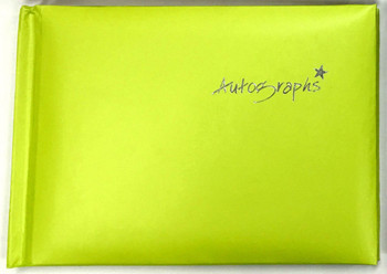 Green Autograph Book 100 pages - Signature End of Term School Leavers