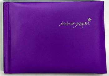 Purple Autograph Book 100 pages - Signature End of Term School Leavers