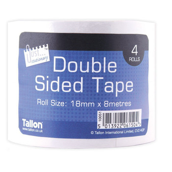 Pack of 4 18mm Double Sided Tape