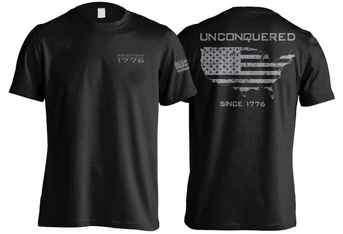 Black Unconquered Short Sleeve