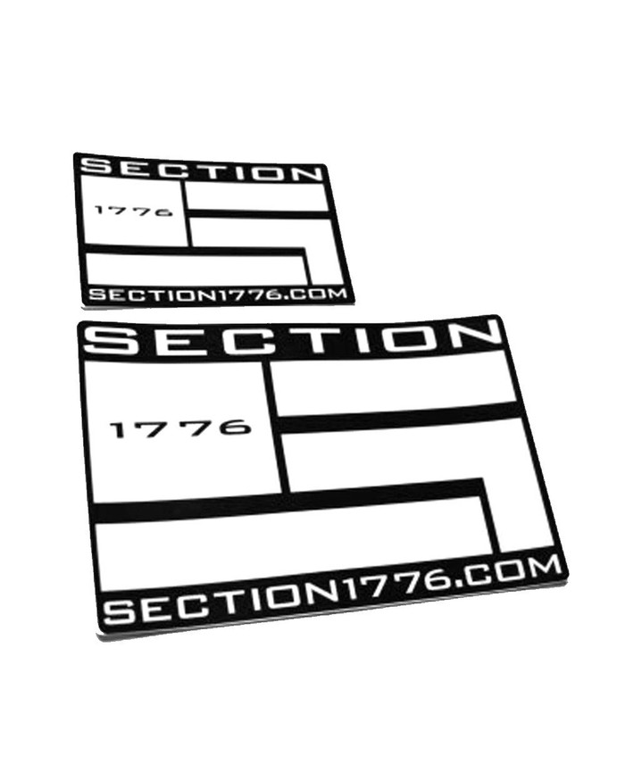"3""x5"" White logo decal"
