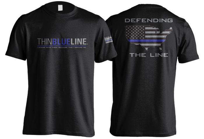 Thin Blue Line - Black Short Sleeve