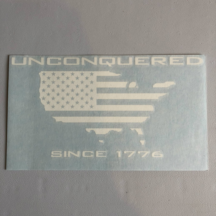 "8.5"" Unconquered Die Cut Decal"