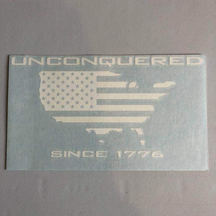 "8.5"" Unconquered Die Cut Decal"