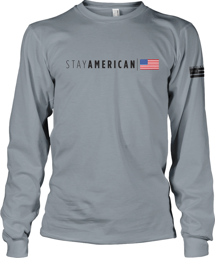 Stay American - Gray LS
