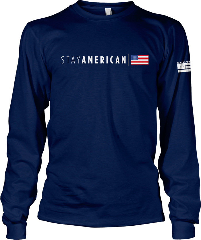 Stay American - Navy LS
