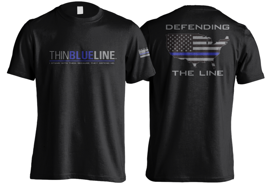 Thin Blue Line - Black Short Sleeve