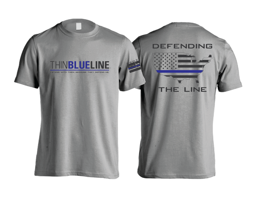 Thin Blue Line - Gray Short Sleeve