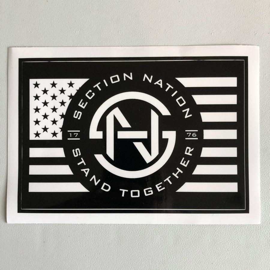 "5"" x 7.5"" Section Nation Sticker - Black"