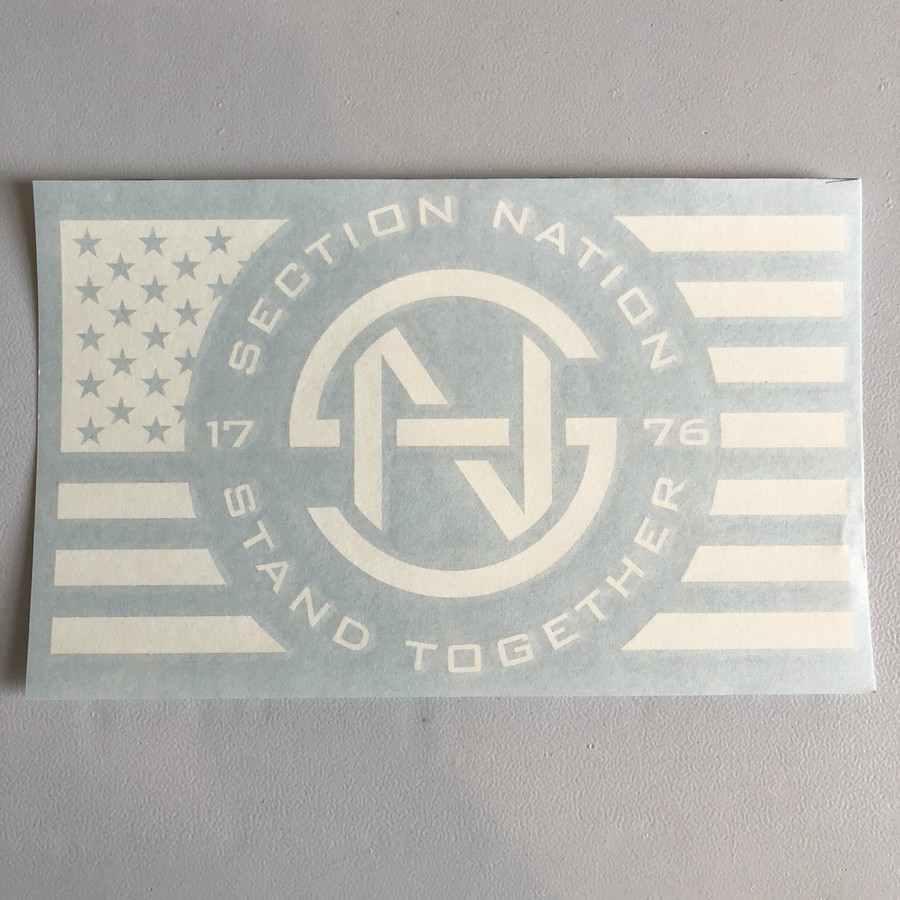 "5.5"" x 9"" Section Nation Die Cut Decal"