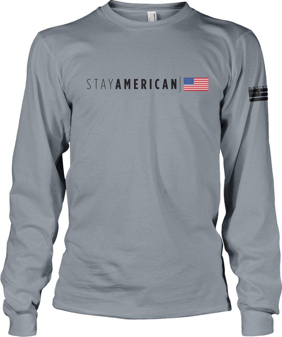 Stay American - Gray LS