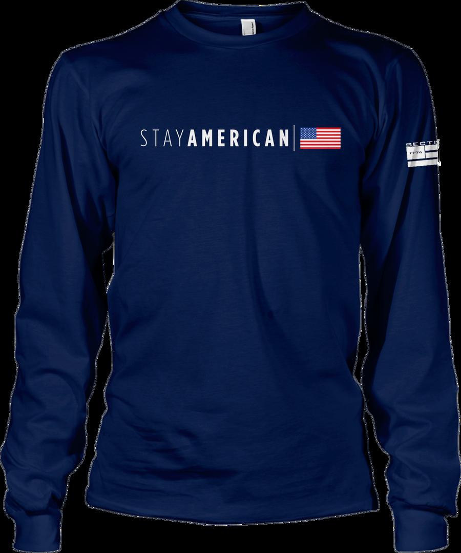 Stay American - Navy LS