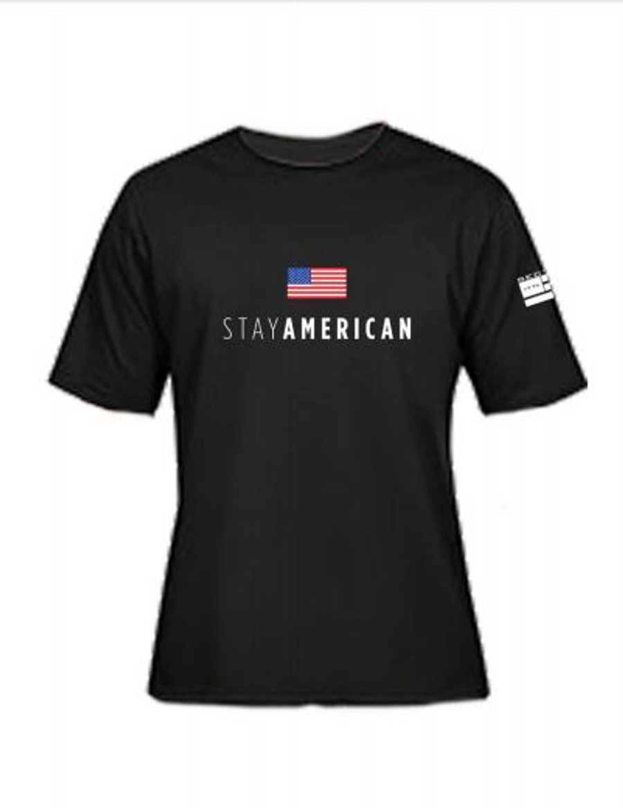 Toddler & youth Stay American SS - Black
