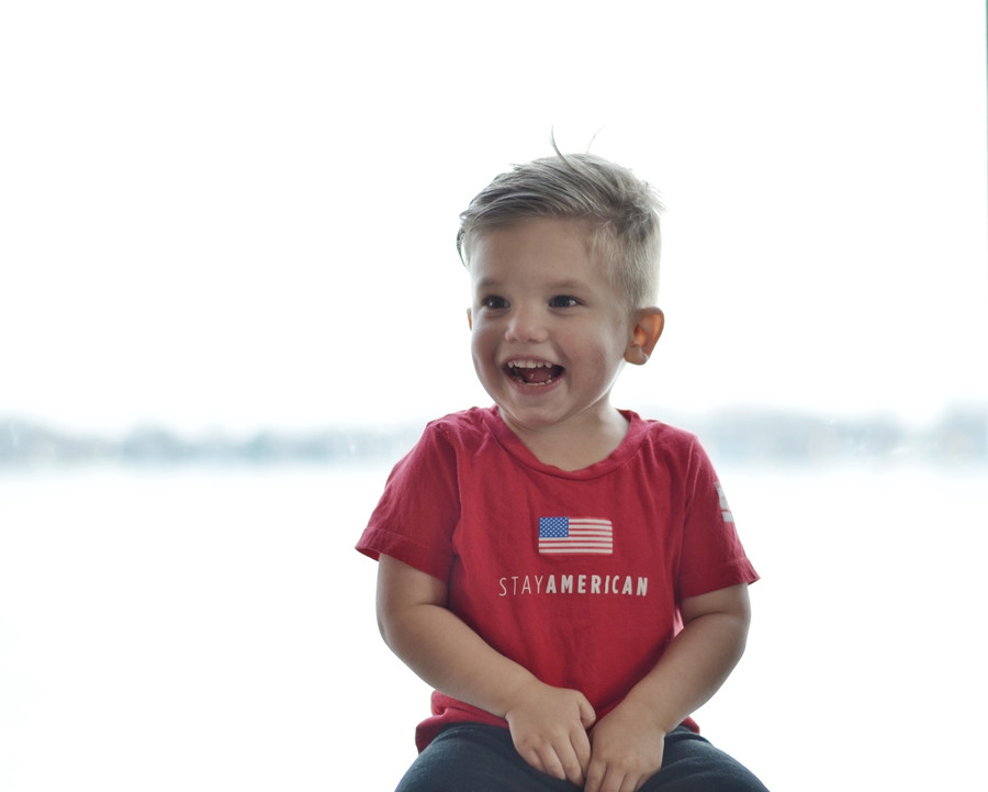 Toddler & youth Stay American SS - Red