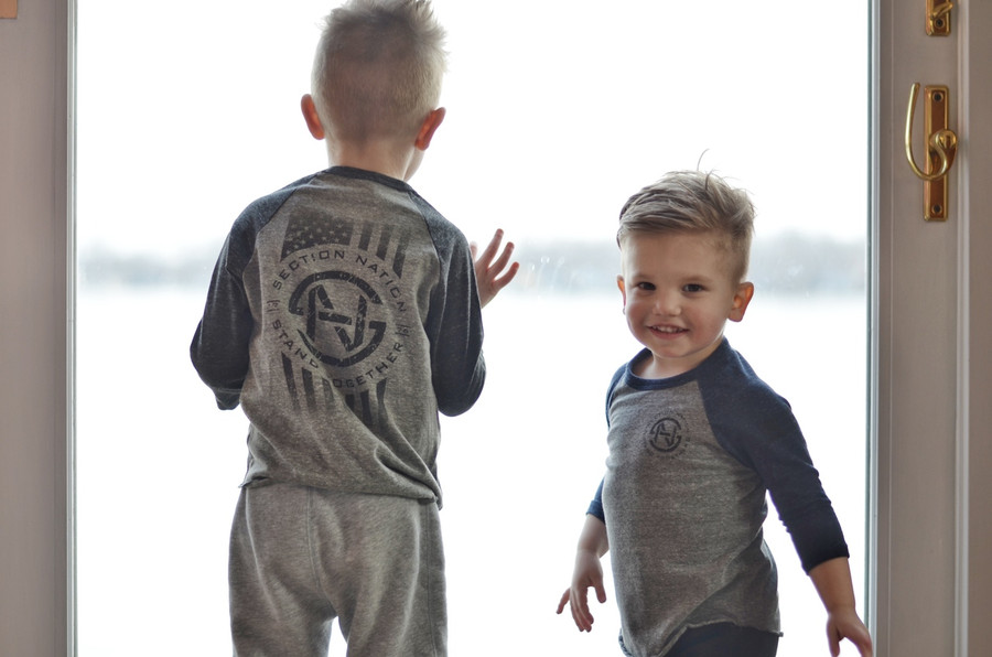 SN toddler & youth 3/4 Sleeve - Gray