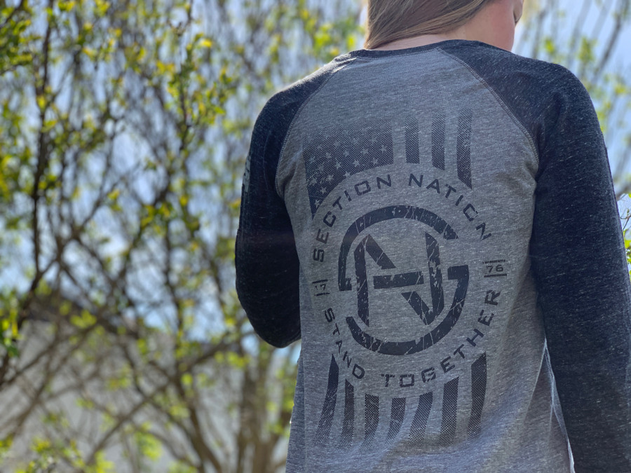 Section Nation 3/4 Sleeve - Grey
